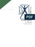 DimensioneX Developer's Reference v.6.3.3