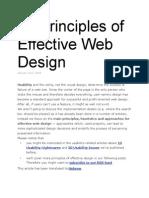 10 Principles of Effective Web Design (2008)