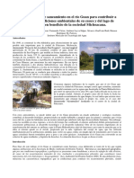 Infraestructura de saneamiento en el río Guan