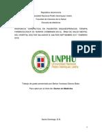 Respuesta terapeutica en pacientes esquizofrenicos terapia farmacología vs terapia combinada en el área de salud mental del Hospital Salvador Gautier, septiembre 2017 -feb