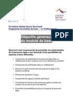 Formation HSS - Module 1 - Le Vieillissement -Programme 2010