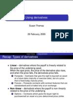 Using Derivatives