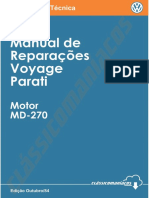 Manual de Reparações Voyage Parati g17-26 Motor MD-270 Ed. 1984