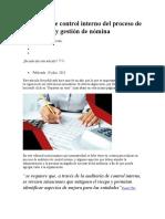Auditoría de control interno del proceso de liquidación y gestión de nómina.SEP.09.2019