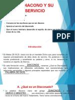 1. EL DIACONO Y SU SERVICIO