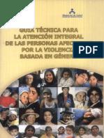 4. Guía Técnica para la Atención Integral de las personas afectadas por la violencia basada en genero RM N° 141-2007