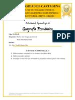 ACTIVIDAD DE APRENDIZAJE #1 - GEOGRAFÍA ECONÓMICA - CIPA. MAIMAR