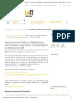Operaciones Aritméticas, Matemáticas - Curso de Java - Algoritmos y Programación en Netbeans (4-25) - www.IncanatoIT.com - Desarrollando Software