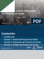 Lineamientos para la elaboración del Proyecto de Grado 28MAY 2020