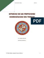 ESTUDIOS DE LAS PRIVISIONES HIDROLÓGICAS DEL TAIBILLA