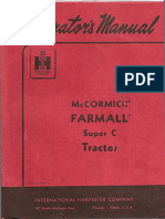 Farmall Super C manual