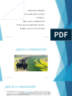 Evidencia 1. Inmigracion