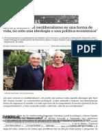 Laval y Dardot - El neoliberalismo es una forma de vida