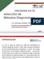 Consideraciones en La Selección de Metodos Diagnosticos