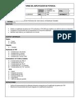 INFORME DEL AMPLIFICADOR DE POTENCIA 10w