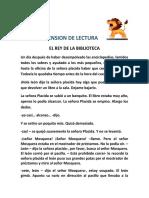 COMPRENSION DE LECTURA  EL REY