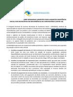 NOTA DO CONGEMAS SOBRE DEMANDAS URGENTES PARA GARANTIR ASSISTÊNCIA SOCIAL NOS MUNICÍPOS EM DECORRÊCNIA DO CORONAVÍRUS (COVID-19)