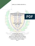 CLIMA LABORAL EN LA EMPRESA FRIGOSINU S.A. - CIPA. MAIMAR - MARLON VERGARA & MAIRA OJEDA