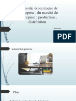 diagnostic marché. Production. distribution fin