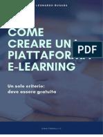 COME CREARE UNA PIATTAFORMA E-LEARNING GRATUITAMENTE
