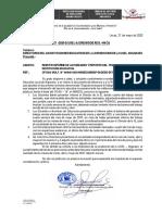 OFICIO MULT063 DIRECTORES REMITIR INFORME Y REPORTE DE TRABAJO REMOTO
