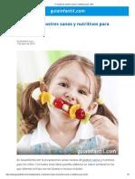 9 recetas de postres sanos y nutritivos para niños