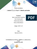 Unidad 1, 2 y 3-Fase 5 - Diseño curricular