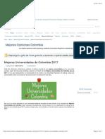 Mejores Universidades de Colombia 2017 - Rankia