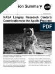 NASA Langley Research Center's Contributions to the Apollo Program