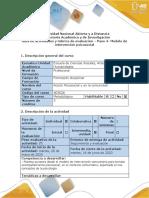 Contingenci  Guía de actividades y rubrica de evaluación - Paso 4- Modelo de intervención psicosocial ( (1)