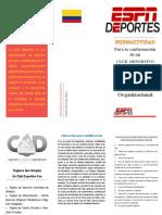 folleto estructura organizacional en el deporte german