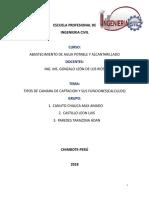 ABASTECIMIENTO TIPOS DE CAMARA DE CAPTACION