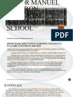 School Learning Continuity Plan Sy. 2020-2021 Presentation