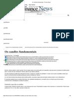 Os candles fundamentais - Finance News