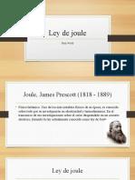 Ley de Joule