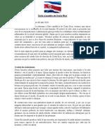 Carta Al Pueblo de Costa Rica