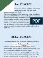 Beta in Finance