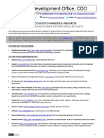 Career Opportunity Websites - Bard 2015