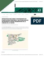 A06 - Infraestructura Verde e Instrumentos de Planificación territorial
