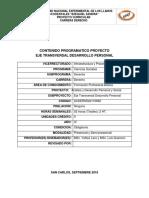 6.- Eje Transversal Desarrollo Personal IV