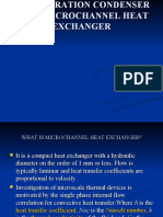 Refrigeration Condenser Using Micro Channel Heat Exchanger
