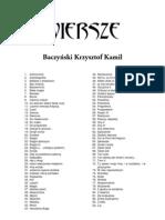 Baczyński Krzysztof Kamil - zbiór wierszy
