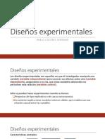 Diseños experimentales de investigacion