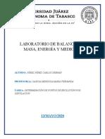 LABORATORIO DE BALANCES DE MASA TAREA 2