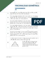 Proporcionalidad Geométrica - Teorema de Tales