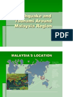 Earthquake and Tsunami Around Malaysia Region