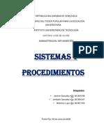 Sistemas y Procedimientos Grupo 5
