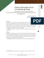 Tratamiento informativo de la guerra hibrida de Rusia