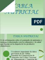 TABLA NUTRICIONAL 4TA