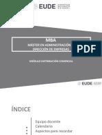 Plan de trabajo módulo Distribución Comercial